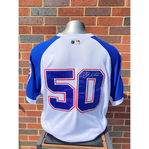 Photo of Charlie Morton MLB Authenticated, Autographed (Team-Issued or Game-Used) 1974 Style Jersey