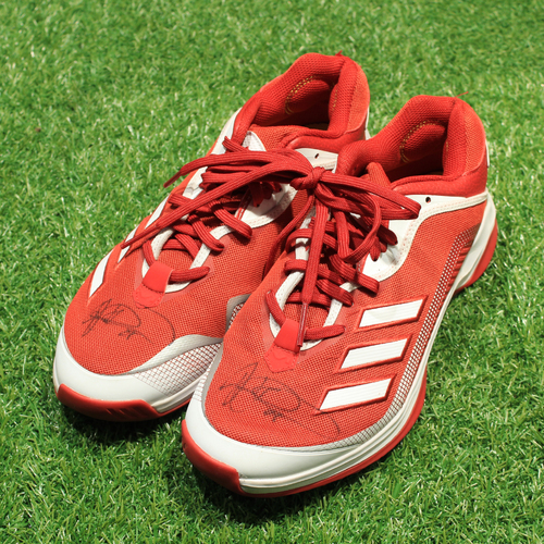 Photo of Game-Used & Autographed Trainer Shoes: Vance Wilson #25 (DET @ KC 5/23/21) - Size 11