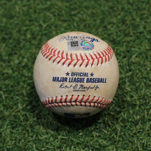 Photo of Game-Used Baseball: Alex Cobb 727th Career Strikeout (LAA@KC 4/12/21)