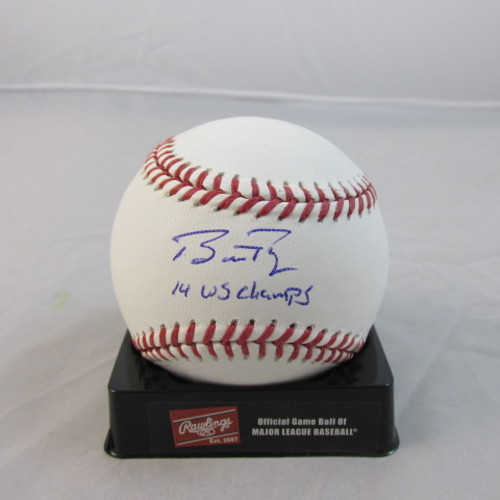 "Photo of Buster Posey Autographed ""14 WS Champs"" Baseball"