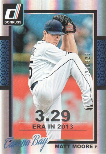 Photo of 2014 Donruss Stat Line Season #114 Matt Moore/329