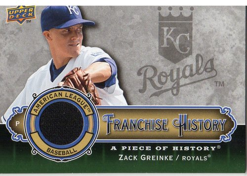 Photo of 2009 UD A Piece of History Franchise History Jersey #FHZG Zack Greinke
