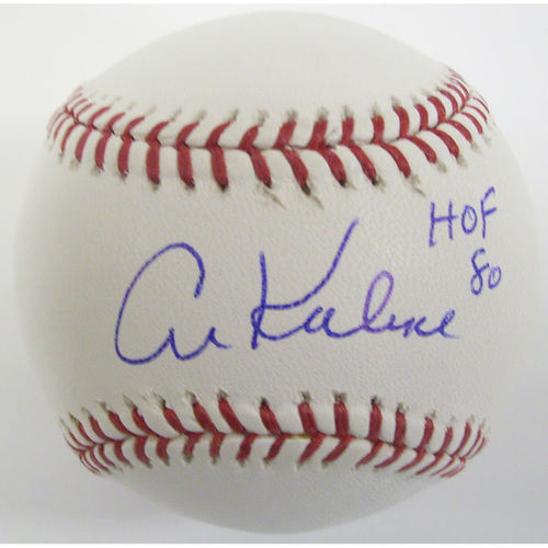Photo of Al Kaline Autographed Baseball-HOF 80