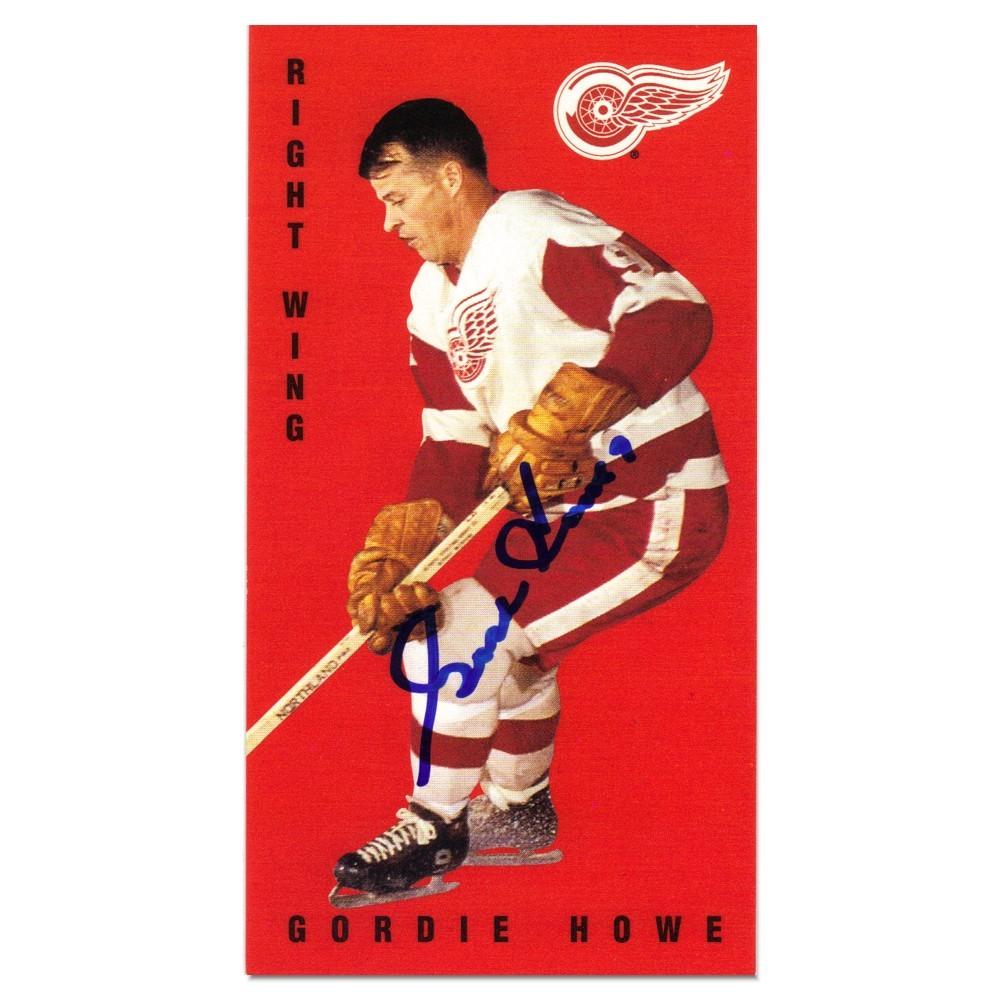 Gordie Howe Autographed Detroit Red Wings Hockey Card.