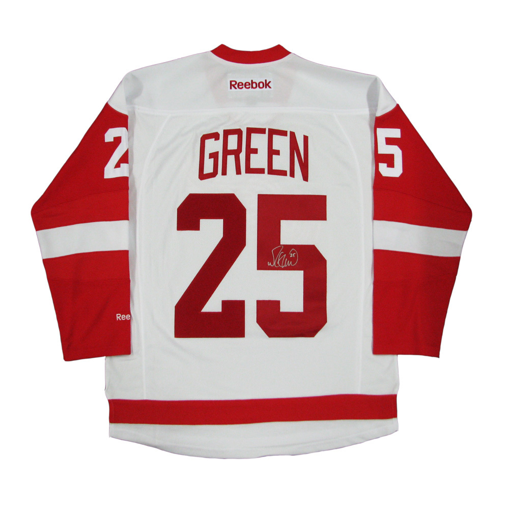 MIKE GREEN Signed Detroit Red Wings White Reebok Jersey