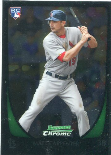 Photo of 2011 Bowman Chrome Draft #14 Matt Carpenter Rookie Card