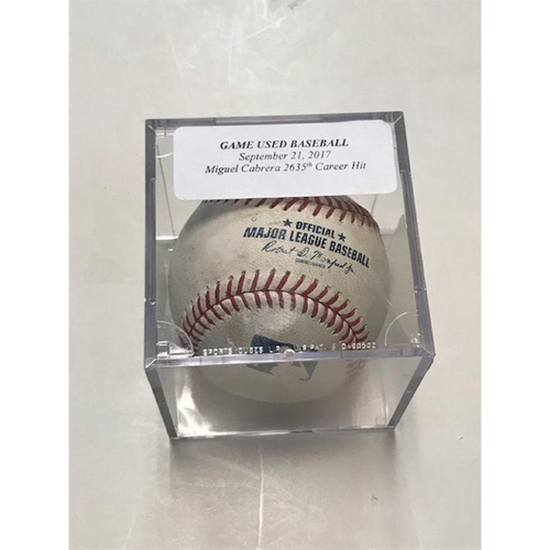 Photo of Game-Used Baseball: Miguel Cabrera Single-2,635th Career Hit