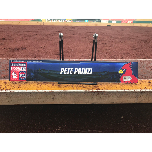 Photo of Cardinals Authentics: Pete Prinzi Team-Issued Spring Training Locker Tag