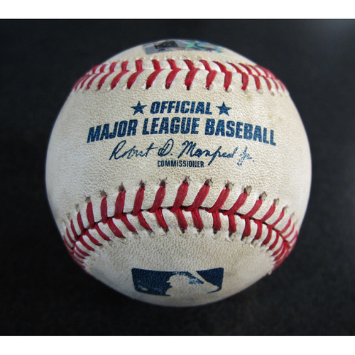 Photo of Game-Used Baseball From the Albert Pujols 3000 Hit Game - Pitcher: Justin Anderson, Batter: Ryon Healy - Foul - 5/4/18