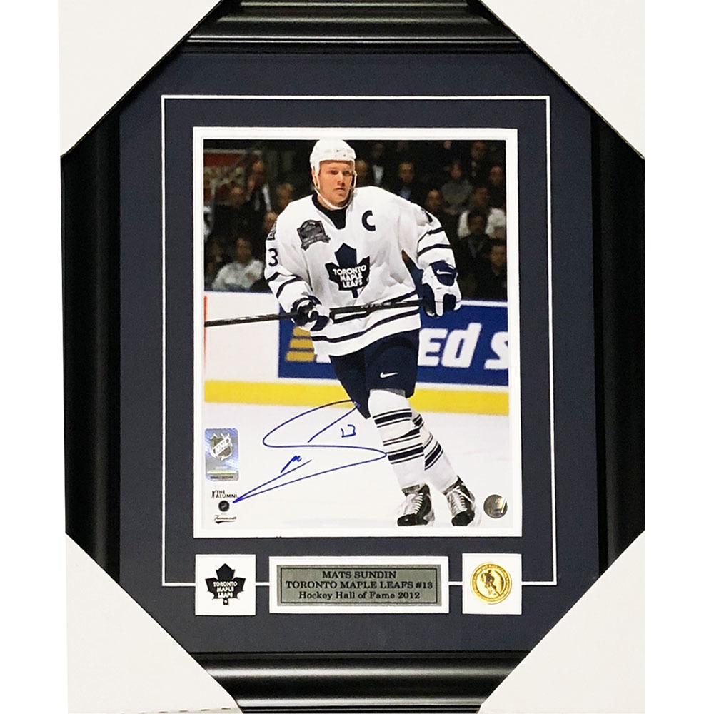 Mats Sundin Autographed Toronto Maple Leafs Framed 8X10 Photo