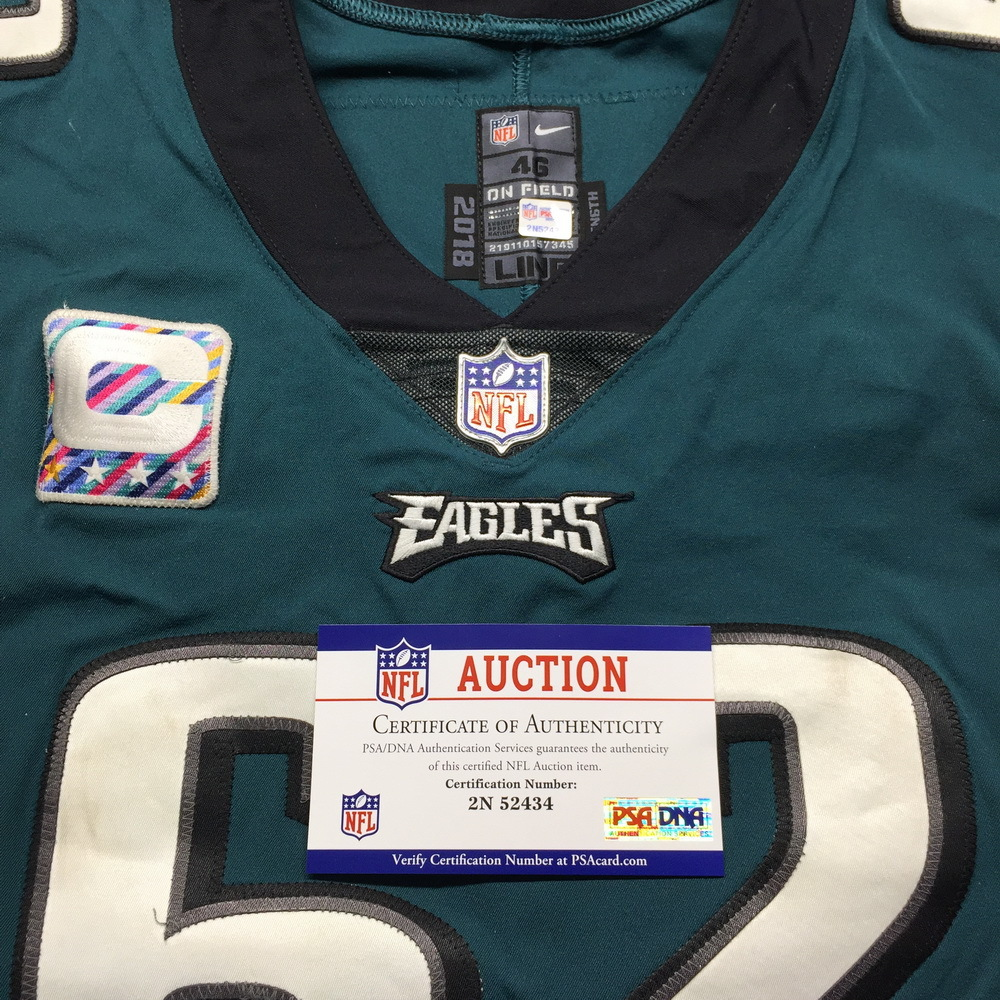 buy online af9f9 82e1c NFL Auction | Crucial Catch - Eagles Jason Kelce Game Used ...