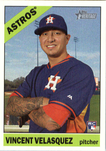 Photo of 2015 Topps Heritage #516 Vincent Velasquez Rookie Card