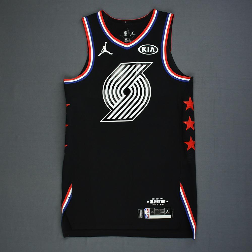 sale retailer 36a29 2f279 Damian Lillard - 2019 NBA All-Star Game - Team LeBron - Game ...