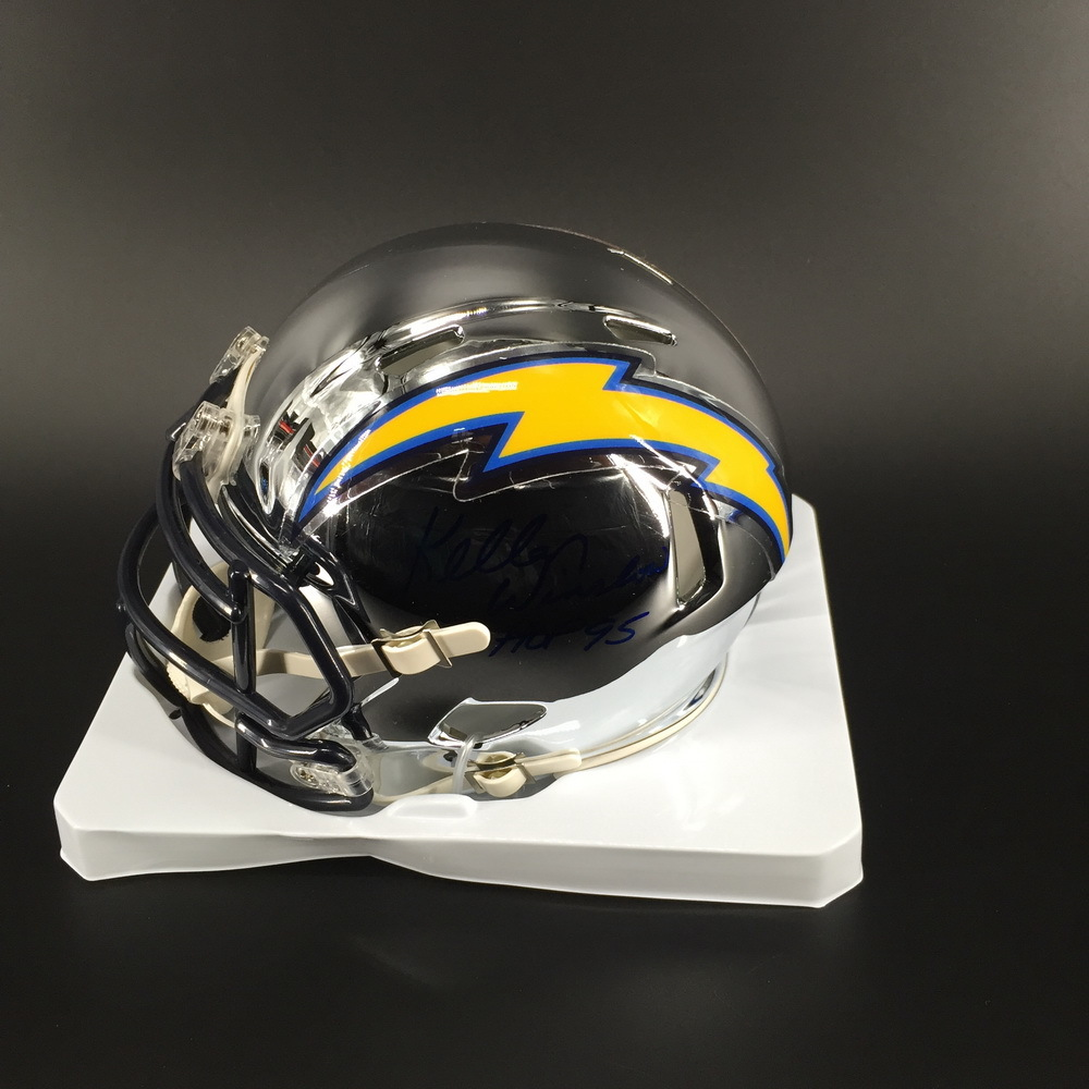 HOF - Chargers Kellen Winslow Signed Chrome Mini Helmet