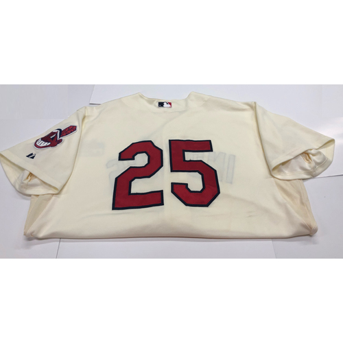 Photo of Jason Giambi Team Issued 2013 Alternate Home Jersey