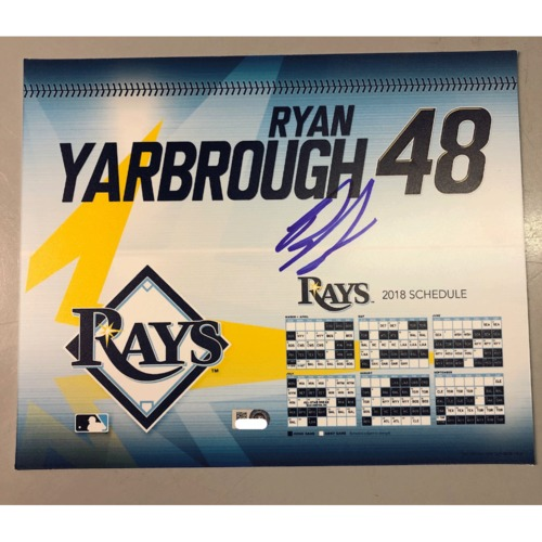 Photo of Game-Used Autographed Locker Tag: Ryan Yarbrough - First MLB Season