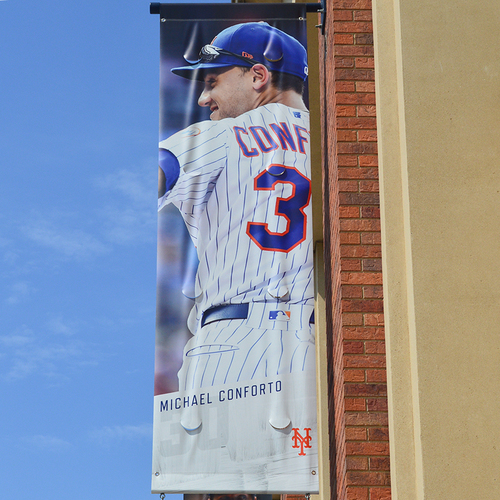 Photo of Michael Conforto #30 - Citi Field Banner - 2019 Season