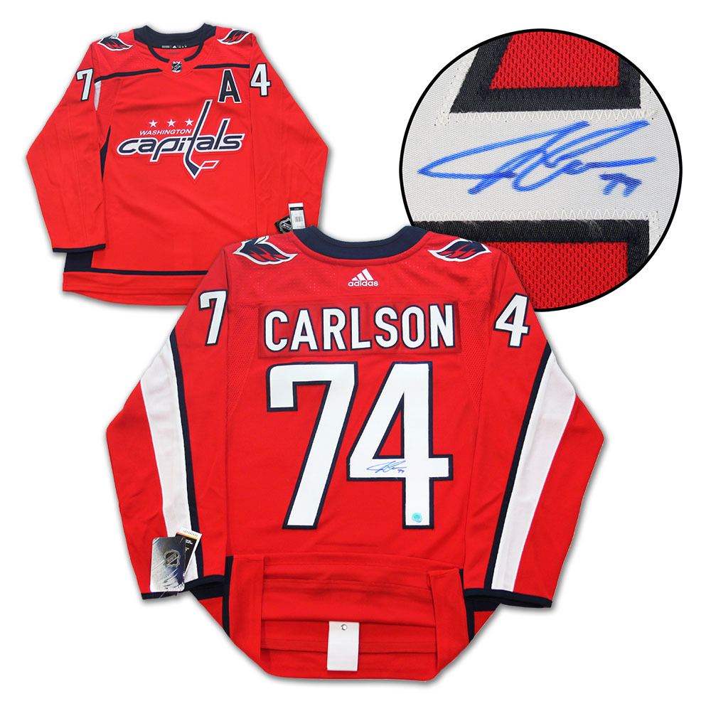 John Carlson Washington Capitals Autographed Adidas Authentic Hockey Jersey