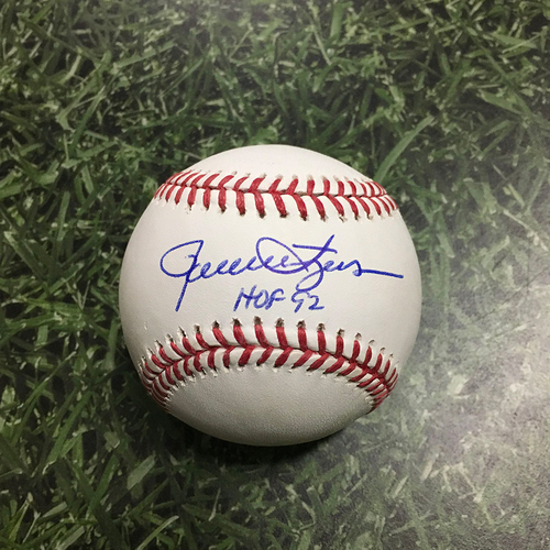 "Photo of Rollie Fingers Autographed Baseball - ""HOF 92"" Inscription"