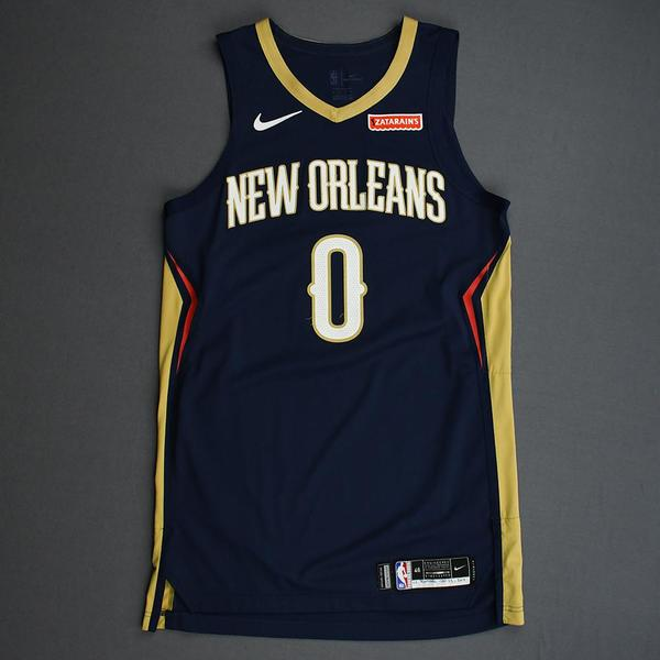Image of Nickeil Alexander-Walker - New Orleans Pelicans - Game-Worn Icon Edition Rookie Debut Jersey - Opening Night 2019-20 Season