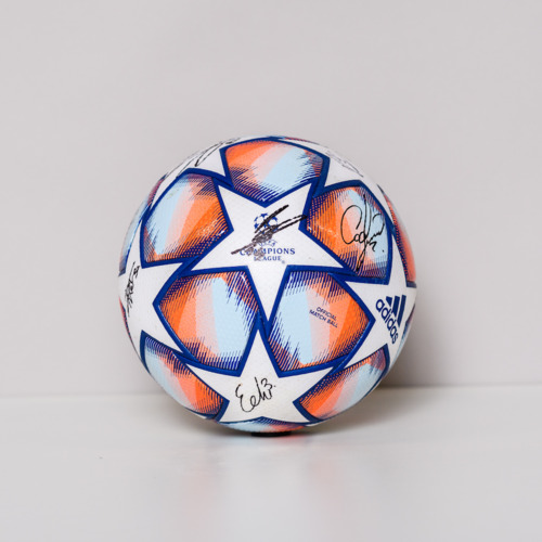 Photo of 20/21 Champions League Ball signed by the Club Brugge Team