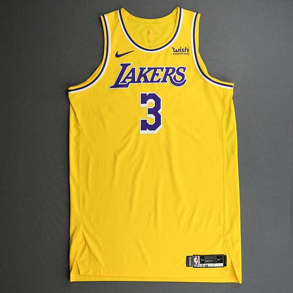 Image of Anthony Davis - Los Angeles Lakers - Kia NBA Tip-Off 2020 - Game-Worn Icon Edition Jersey