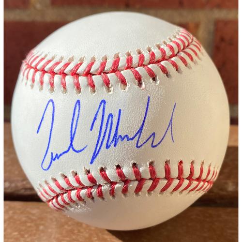 Photo of Nick Markakis Autographed Baseball
