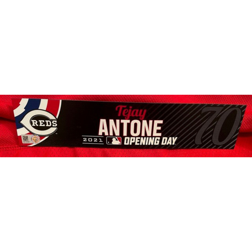 Tejay Antone -- 2021 Opening Day Locker Tag -- Game-Used -- Cardinals vs. Reds on 4/1/21
