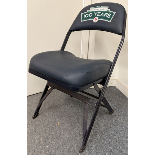 Photo of Fenway Park Fenway 100 Team Issued Visitor's Clubhouse Locker Room Chair