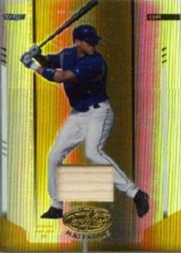 Photo of 2004 Leaf Certified Materials Mirror Bat Gold #9 Alexis Rios