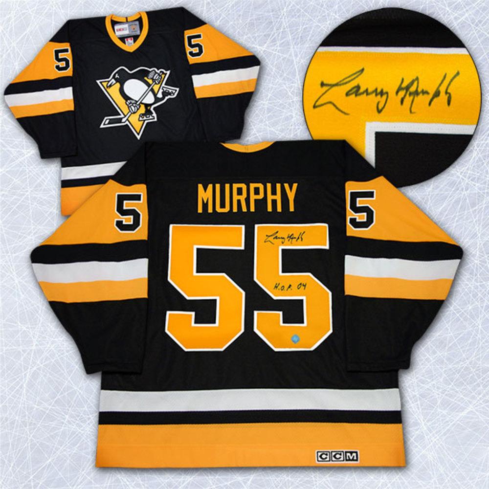Larry Murphy Pittsburgh Penguins Autographed Retro CCM Hockey Jersey