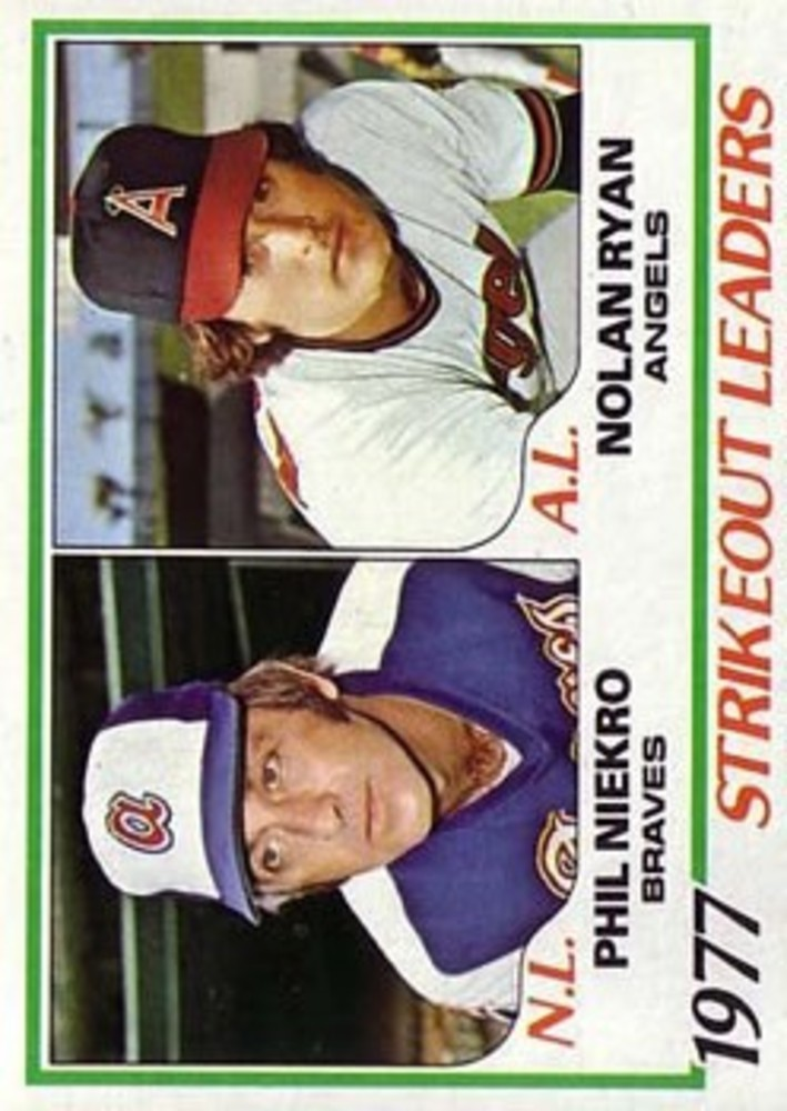 1978 Topps #206 Strikeout Leaders DP/Phil Niekro/Nolan Ryan