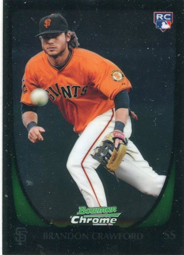 Photo of 2011 Bowman Chrome Draft #25 Brandon Crawford  Rookie Card