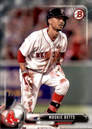 Photo of 2017 Bowman #6 Mookie Betts -- Red Sox post-season