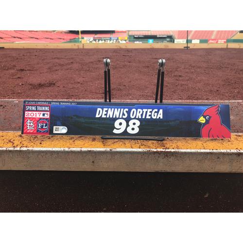 Photo of Cardinals Authentics: Dennis Ortega Team-Issued Spring Training Locker Tag