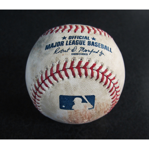 Photo of Game-Used Baseball From the Albert Pujols 3000 Hit Game - Pitcher: Casey Lawrence, Batter: Mike Trout - Pitched ball - 5/4/18