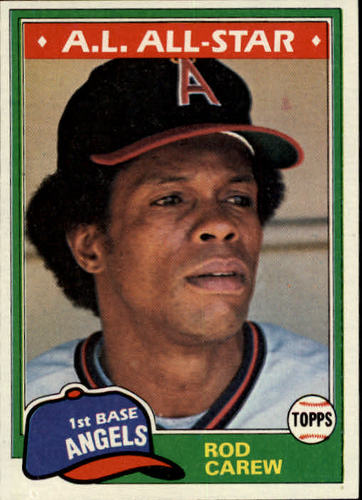 Photo of 1981 Topps #100 Rod Carew Hall of Fame
