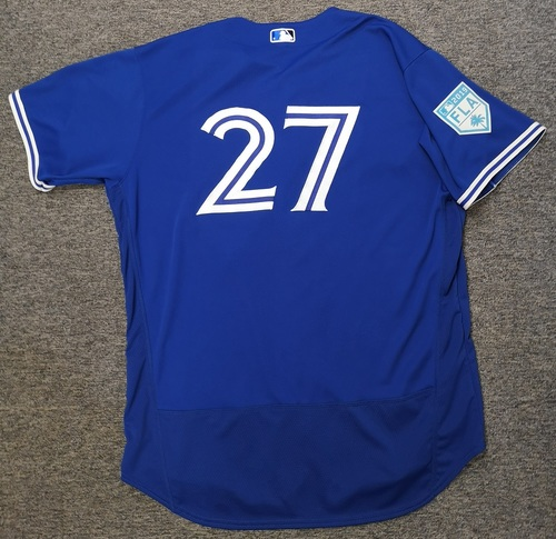 Photo of Authenticated Team Issued 2019 Spring Training Jersey - #27 Vladimir Guerrero Jr. Size 52