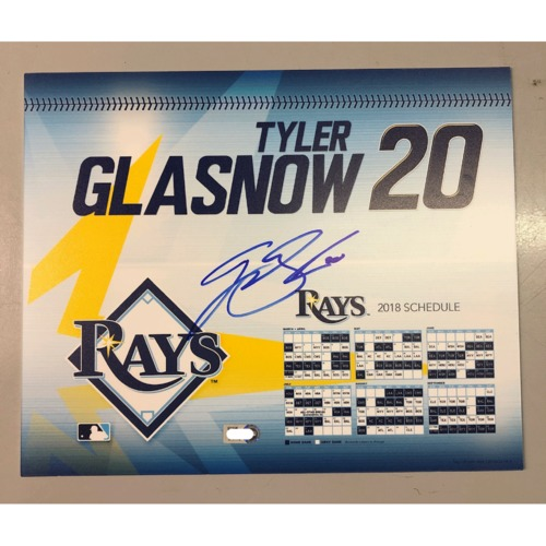 Photo of Game-Used Autographed Locker Tag: Tyler Glasnow - First MLB Season