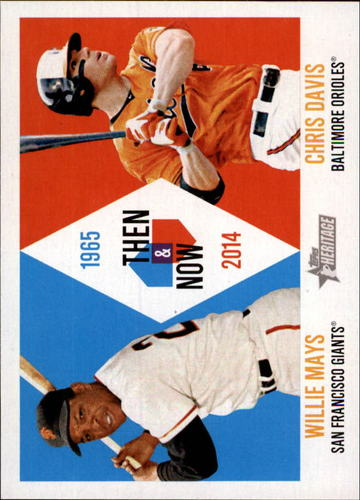 Photo of 2014 Topps Heritage Then and Now #TANMD Willie Mays/Chris Davis
