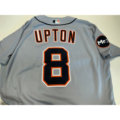 Photo of Game-Used Road Jersey: Justin Upton