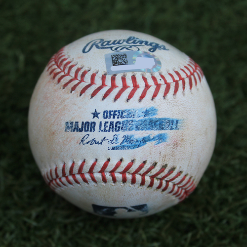 Photo of Game-Used Baseball: Cesar Hernandez 678th Career Hit (PHI @ KC - 5/12/19)