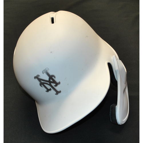 "Photo of Wilson ""BUFFALO"" Ramos New York Mets Game-Used 2019 Players' Weekend Helmet"