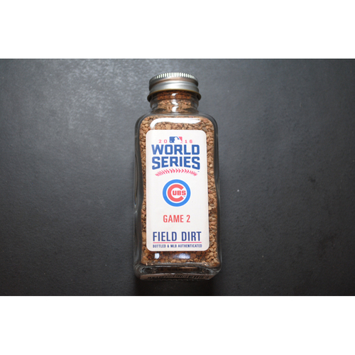 Photo of 2016 World Series Game-Used Dirt Jar - Game 2 - Progressive Field