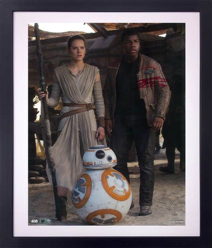 John Boyega As Finn 11x14 AUTOGRAPHED IN 'Red' INK PHOTO