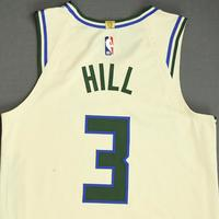 George Hill - Milwaukee Bucks - Game-Worn City Edition Jersey - 2019-20 NBA Season