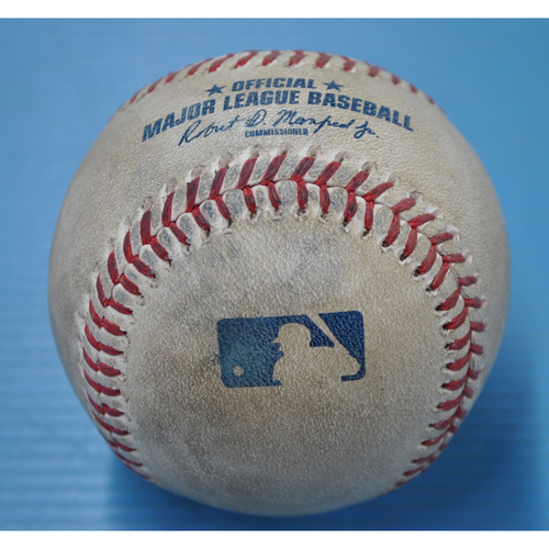 Photo of Game-Used Baseball - MIL at PIT - 8/22/2020 - Pitcher - Dovydas Neverauskas, Batter - Keston Hiura (MIL), Top 7, Home Run