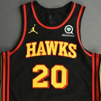 John Collins - Atlanta Hawks - Kia NBA Tip-Off 2020 - Game-Worn Statement Edition Jersey