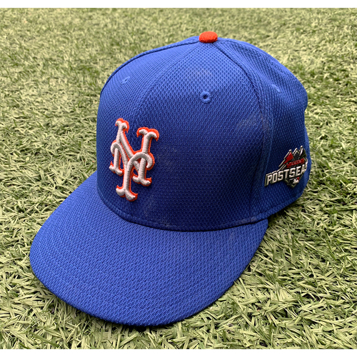 Photo of Team Issued Blue Hat - #62 with 2015 Postseason Patch - 2015 Season