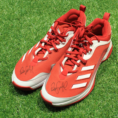 Photo of Game-Used & Autographed Trainer Shoes: Pedro Grifol #6 (DET @ KC 5/23/21) - Size 11 1/2